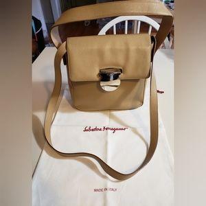 Salvatore Ferragamo Tan Leather Satchel Bag